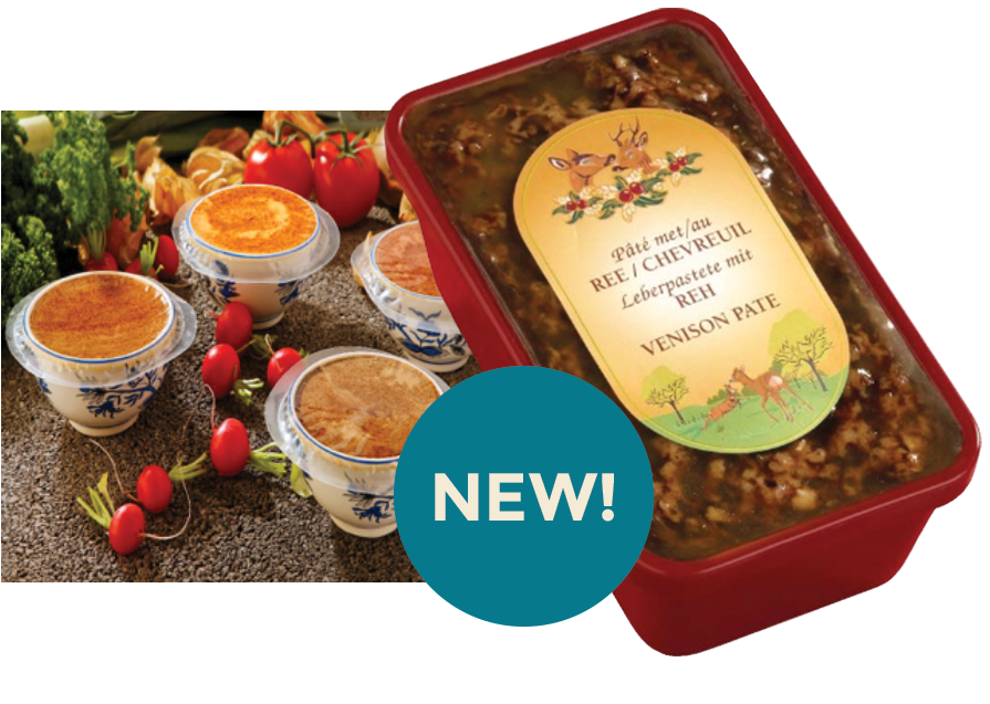 individual smooth & course pâté pots & dishes from padbury meats